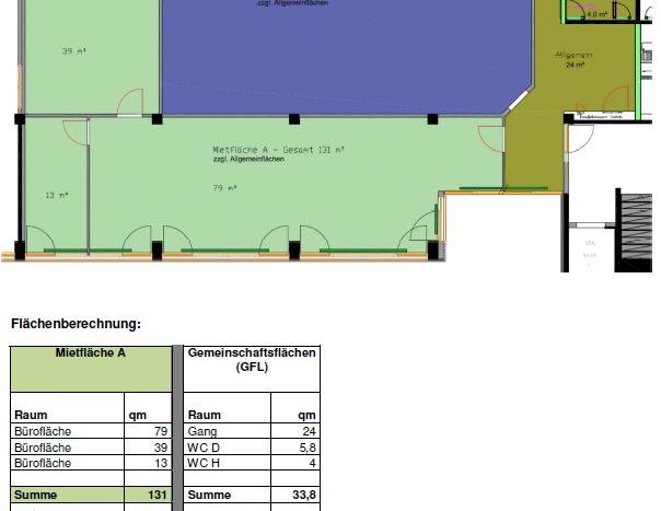 Büro 150 qm in Hallbergmoos ab Q2/2021 zu vermieten